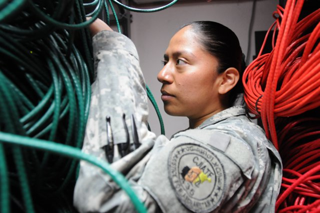 Deployed Meade Soldier supports users access to information technology